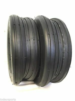 £28.29 • Buy Two 13X5.00-6 13/500-6 Smooth Rib 4 Ply Deestone Lawn Mower Garden Tractor Tires