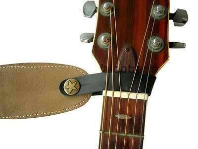 $ CDN7.17 • Buy Acoustic Guitar Strap Button Leather Easy Fit For Folk Classical Accoustic Gift