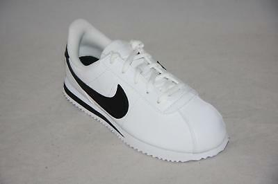brand new d630e e527f Scarpe Nike CORTEZ BASIC BLACK SL (PS) Classic Leather Pelle Bianco Nero  Origin •