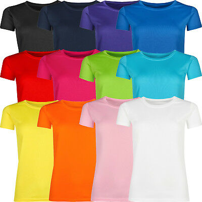 £4.95 • Buy New Ladies Breathable T Shirt Wicking Womens Cool Dry Running Gym Top Sports Lot