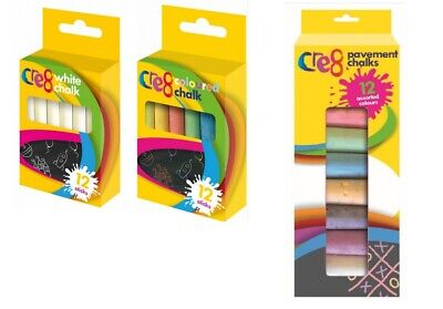 Chalk For Kids Activity Small & Giant Pavements Chalks Coloured CE Safe For Kids • 2.49£
