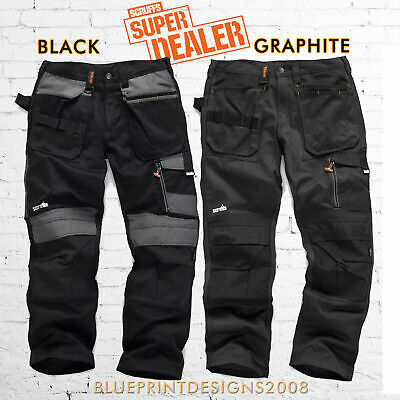 SCRUFFS 3D TRADE Trousers Hard Wearing CORDURA FABRIC Knee Pad Pockets Trousers • 39.95£