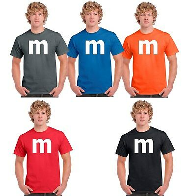 $14.50 • Buy M&M Candy T-shirt Halloween Costume Cosplay Chocolate Group & Family M Shirts