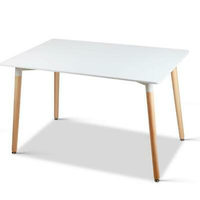 AU344.95 • Buy Artiss Dining Table 6 Seater Replica DSW Eiffel Cafe Kitchen White 120cm