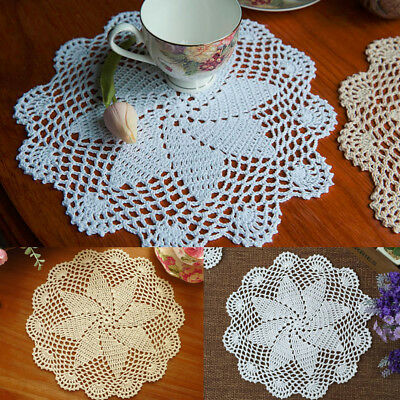 £3.05 • Buy Cotton Handmade Crochet Lace Doily Doilies Place Mat Coaster Round Table Pads