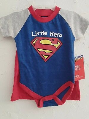 $7.99 • Buy SUPERMAN- Toddler Boy Size 0/3, 3/6, 6/9, Blue/Gray Premium 2 Pc Outfit Special