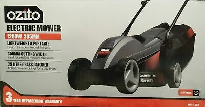 AU159 • Buy Ozito 1000W Ecomow Electric Lawn Mower Lawnmower + Grass Catcher +3YR Warranty
