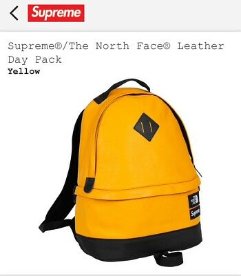$ CDN603.25 • Buy Supreme/The North Face Leather Day Pack Yellow FW17 SOLD OUT