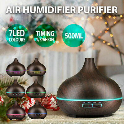 AU22.49 • Buy Air Humidifier Purifier Essential Oil Diffuser 550ml Aroma Aromatherapy Lamp LED