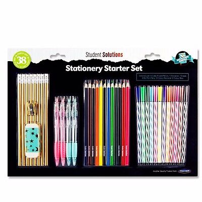 £8.98 • Buy Stationery Set- School Office Pens Colouring Pencils Markers - Children Gift Set