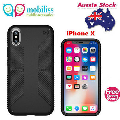 AU49.95 • Buy SPECK Presidio Grip Shockproof Heavy Duty Tough Case Black For IPhone X / Xs TP