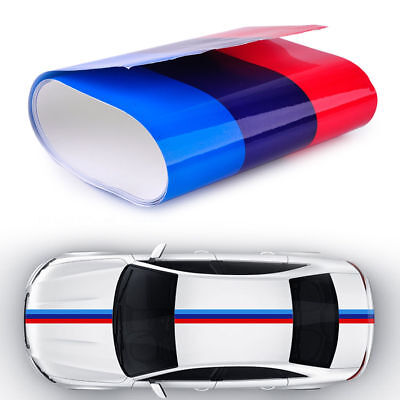 $3.39 • Buy 2M Universal Car Auto M-Colored Sticker Power Flag Stripe Decal Fender For BMW