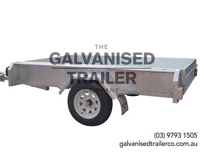 AU1700 • Buy 8x5 Single Axle Box Trailer Heavy Duty Galvanised With 300mm Checker Plate Sides