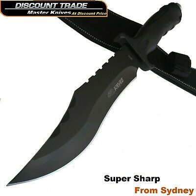 AU32.95 • Buy Survival Tactical Hunting Camping Military Bowie Sharp Knife Combat Pig Sticker