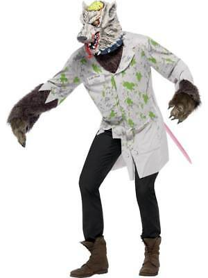 £22.45 • Buy Mens Experiment Lab Rat Fancy Dress Costume Horror Pet Rodent Halloween Outfit