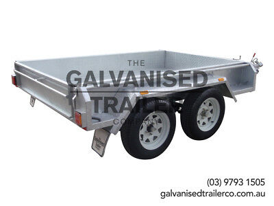 AU2650 • Buy 8x5 Tandem Trailer Galvanised Heavy Duty With 300mm Checker Plate Sides