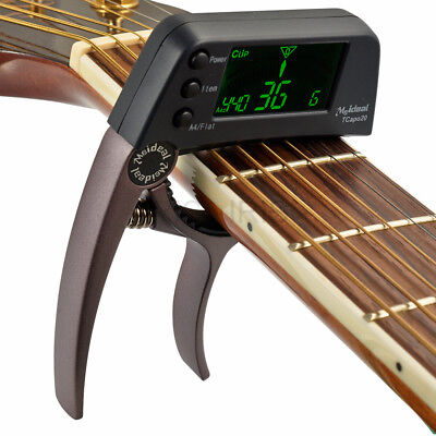 $ CDN17.62 • Buy TCapo20 Guitar Bass Clip On Tuner Quick Change Trigger Capo Clamp Coffee