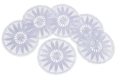 White Floral Lace Round Doily Traditional Vintage Home Table Coaster Mat 20.5cm • 6.99£