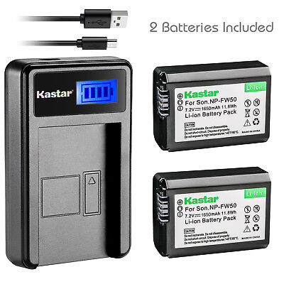 $ CDN28.34 • Buy Kastar Battery And LCD Slim USB Charger For Sony NP-FW50 Alpha 7 NEX-7 A6000 A37