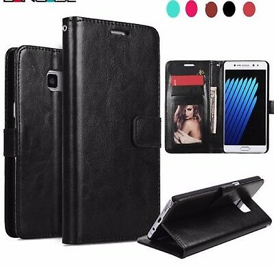 $ CDN9.99 • Buy Samsung Leather Wallet Phone Case Cover - Samsung S7 S7 Edge S8 S8+