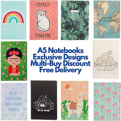 A5 Notebook 40 Sheet/80 Page Notepad Plain Blank Lined Sheets High Quality Paper • 3.50£