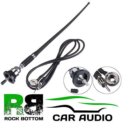 FORD TRANSIT AM/FM Rubber Mast Roof/Wing Mount Car Radio Aerial Antenna CHROME • 8.95£