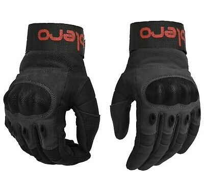 £13.99 • Buy ISLERO Leather All Weather Motorbike Motorcycle Gloves Carbon Fiber Knuckle