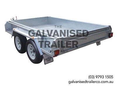 AU2850 • Buy 9x5 Tandem Trailer Galvanised Heavy Duty With 300mm Checker Plate Sides