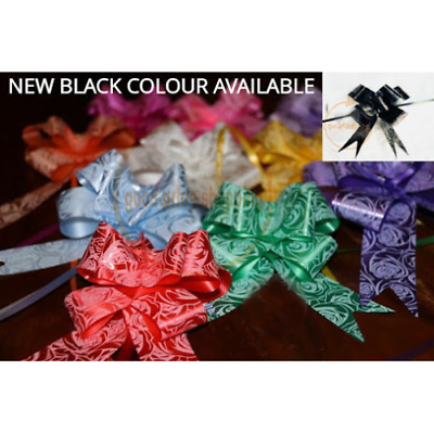 Large Luxury Organza Ribbon Pull Bows Wedding Party Decoration Ribbons 9 Colours • 2.49£