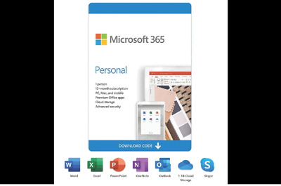 AU89.49 • Buy Microsoft Office 365 Personal Subscription 1 Year ESD Version Key 1