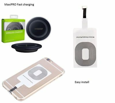 $ CDN7.99 • Buy Qi Wireless Charger Charging Receiver Pad + Station For IPhone 5 6 6s 7 8 Plus