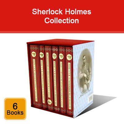 Sherlock Holmes 6 Books Collection Box Set Arthur Conan Doyle Collectors Library • 20£