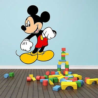 Mickey Mouse Feature Wall Art Sticker Decal Kids Boys Girls Quality Vinyl • 4.99£