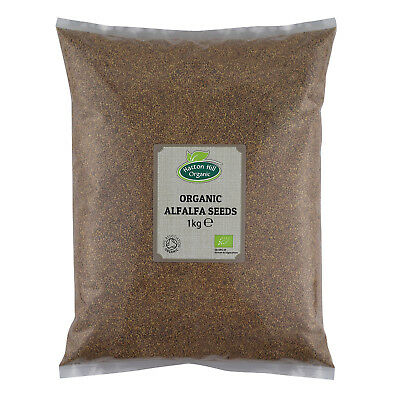 £9.29 • Buy Organic Alfalfa Seeds For Sprouting Certified Organic