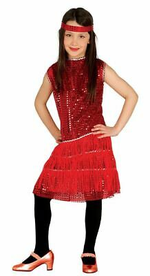 £8.99 • Buy Girls Kids 1920s Red Sequin Charleston Flapper Gatsby Fancy Dress Costume Outfit