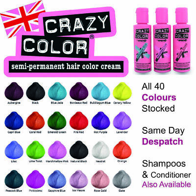 £5.45 • Buy Crazy Colour Hair Dye Semi Permanent All 40 Shades Available