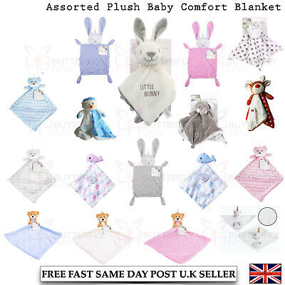 £7.75 • Buy Elli And Raff Baby First Steps Comfort Plush Blanket Cot Toys Rabbit  0+ Month