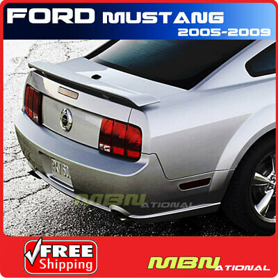 $114.63 • Buy For 05-09 Ford Mustang Coupe Rear Trunk Lip Spoiler Painted UA BLACK CLEARCOAT