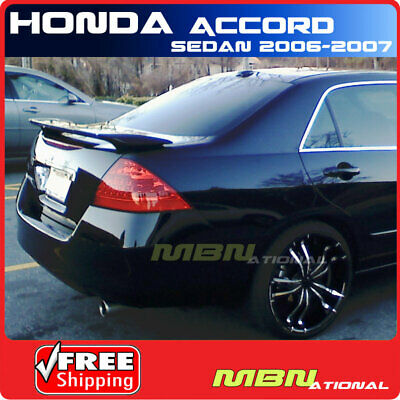 $ CDN158.13 • Buy 06-07 For Honda Accord Sedan Rear Trunk Spoiler Painted B92P NIGHTHAWK BLACK