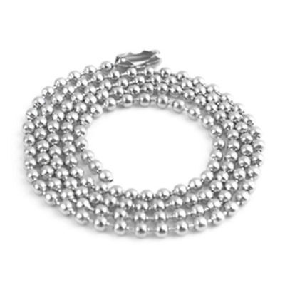 Dog Tag Ball Chain Silver Necklace Choice Of Lengths 2.0MM BALL • 2.04£