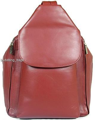 New Girls/ladies Visconti Red Soft Leather Backpack Bag • 89.99£