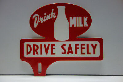 $46 • Buy DRINK MILK DRIVE SAFELY 3 1/4  High By 3 3/4  Wide. NICE! TOPPER DISPLAY