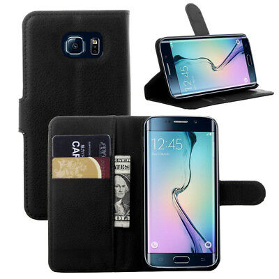 $ CDN9.69 • Buy Black Wallet PU Leather Case For SAMSUNG GALAXY S6 EDGE