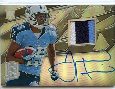 $5.99 • Buy Justin Hunter 2013 Panini Spectra Rookie Jersey Patch Auto Autograph #D /99
