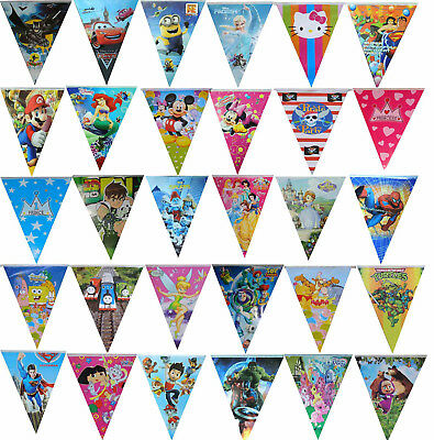 Themed Flag Banner Triangle Bunting Birthday Party Supplies Wall Decoration -1pk • 3.57£