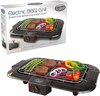 Electric Table Top Grill BBQ Barbecue Garden Camping Cooking 2000W Indoor Or Out • 21.95£