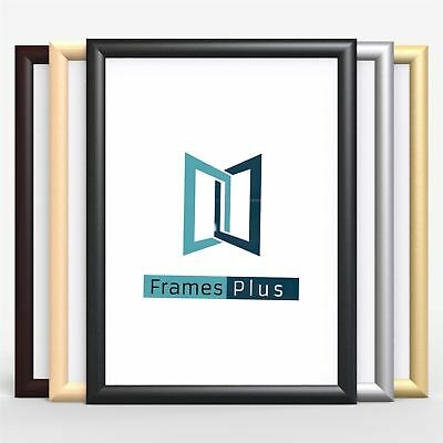 Classic Wood Finish Photo Picture Poster Frame Silver Large Square A1 A2 A3 A4 • 5.56£