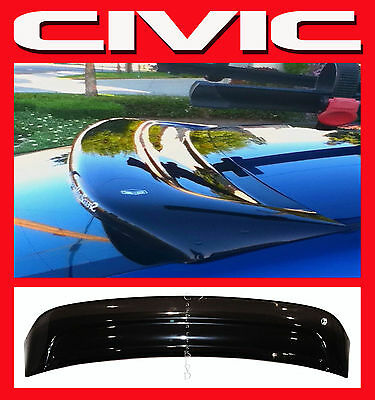 $115 • Buy JDM 2001-2005 Civic Coupe 2dr EM2 Rear Roof Window Visor With Stability Brackets