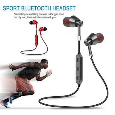 Sweatproof Wireless Bluetooth Earphones Headphones Sport Gym For IPhone Samsung • 5.49£