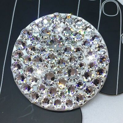 AU47.74 • Buy NEW Bling Authentic Silver PopSocket CLEAR Swarovski Crystals PopSockets IPhone
